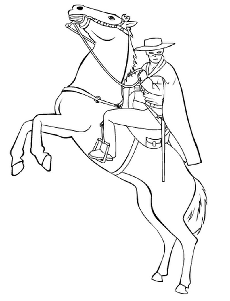 Coloring Pages Zorro : Zorro free coloring pages